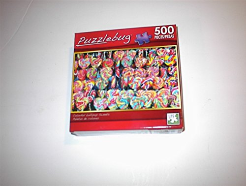 Puzzlebug 500 Piece Puzzle - COLORFUL LOLLIPOP SWEETS