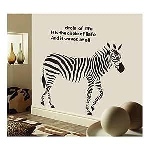pi wandaufkleber wandtattoo stil kreative zebra pvc wandaufkleber k che haushalt. Black Bedroom Furniture Sets. Home Design Ideas