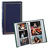 Pioneer Classic 3 Ring Photo Album with Navy Blue Cover, Holds 504 4x6 Photos, 3 Per Page