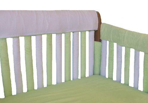 "Go Mama Go Designs Reversible Teething Guard, White/Green, 52"" X 12"""
