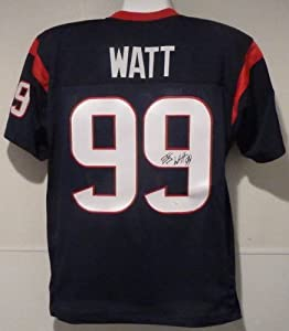 JJ Watt Autographed Blue size XL jersey Houston Texans w JSA by DenverAutographs