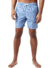 XXXL Blue Harbour Marlin Fish Print Quick Dry Swim Shorts