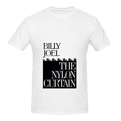 Billy Joel The Nylon Curtain Mens O Neck Cotton T Shirts White