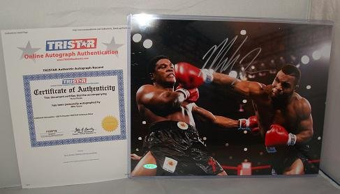 Mike Tyson Signed 11x14 In the Ring Boxing Photograph, Tristar Authenticated брюки tyson triton брюки