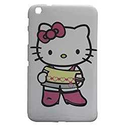 Hello Kitty Design Silicone Back Case Cover For Samsung Galaxy Tab 3 8.0 T3100