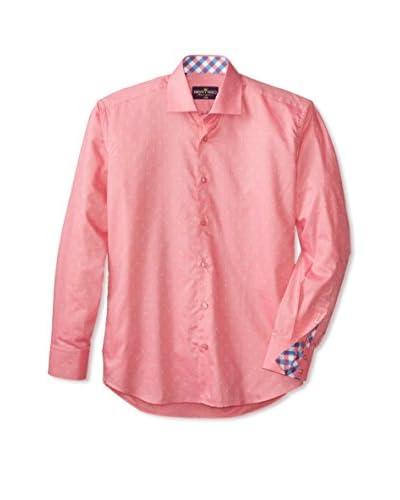 Bertigo Men's Long Sleeve Jacquard Woven Shirt
