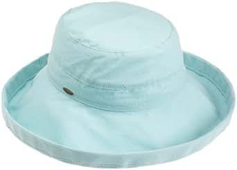 Scala Women's Cotton Big Brim Hat, Aqua, One Size