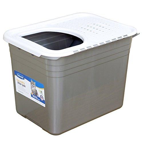 【ペットメイト】入り口が上についた新発想ネコトイレ! トップエントリーリッターパン