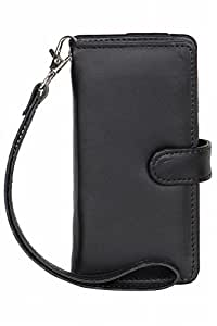 Senzoni Pu Leather Mobile Pouch Wallet Case Cover With Magnetic Look For Spice Smart Flo 503