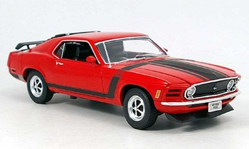 ford-mustang-boss-302-rot-tuning-1970-red-metallmodell-1-18-welly-modellauto-modell-auto