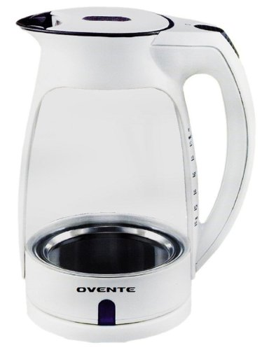 Ovente Kg82W Glass Electric Kettle, 1.7-Liter, White