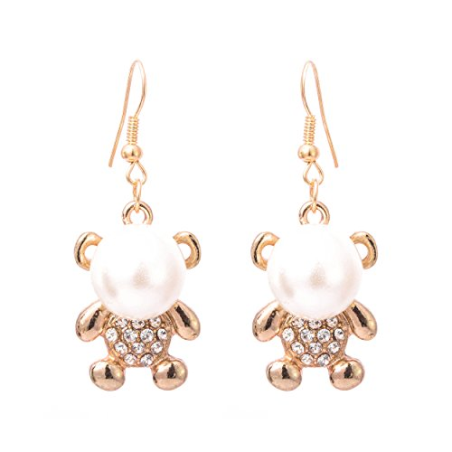 Elegant Looking Gold and White Shell beautiful Pearl Drop Earrings for Women ...  available at amazon for Rs.79