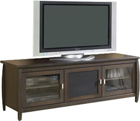 Veneto 60-Inch Walnut Finish LCD TV Stand w 2 Shelves & 3 Doors