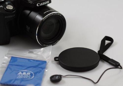 Front Lens Cap Cover for Canon SX520 SX530 SX500 SX510 HS Digital Camera + Cap Holder 54 (Lens Cap For Canon Sx520 Hs compare prices)