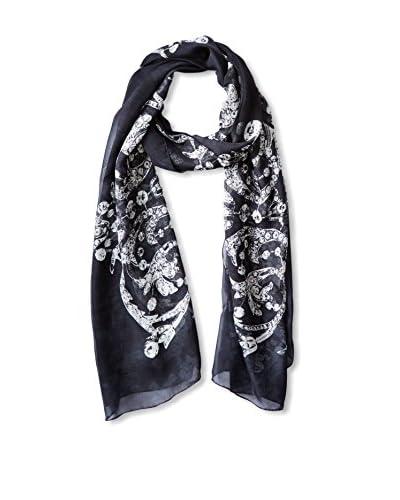 Laura Ciccarello Women's Diamonds and Python Silk Wrap, Caviar Python