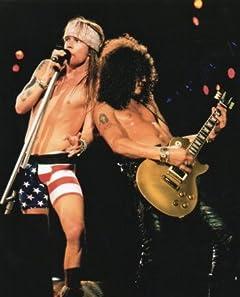 ブロマイド写真★ガンズ・アンド・ローゼズ(Guns N\\\' Roses)/ライブのアクセルとスラッシュ