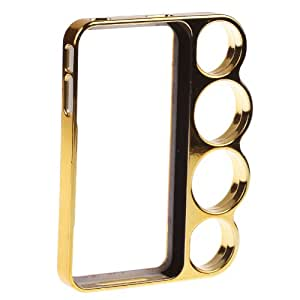 Y-BOA - Coque Iphone 4/4s Bumper Contour - Knuckle Poing - En Plastique - Classique Housse Etui Protection (#2 Or)