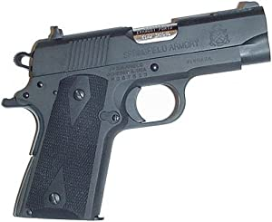 Pearce Grips Gun Fits 1911 Compact Model Rubber Side Panel Grips With Palm Swells