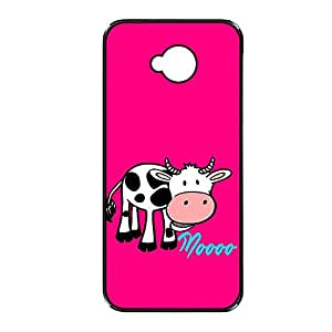 Vibhar printed case back cover for Sony Xperia C Moooo