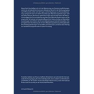 Pensionsverpflichtungen in der Rechnungslegung nach IFRS: Theoretische und empirische Anal