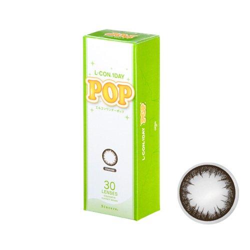 エルコン ワンデー POP カラー コンタクト 1日交換 1箱30枚入 DIA14.2mm ショコラ PWRー0.50