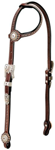 Weaver Leather Stacy Westfall Showtime Sliding Ear Headstall, Brown