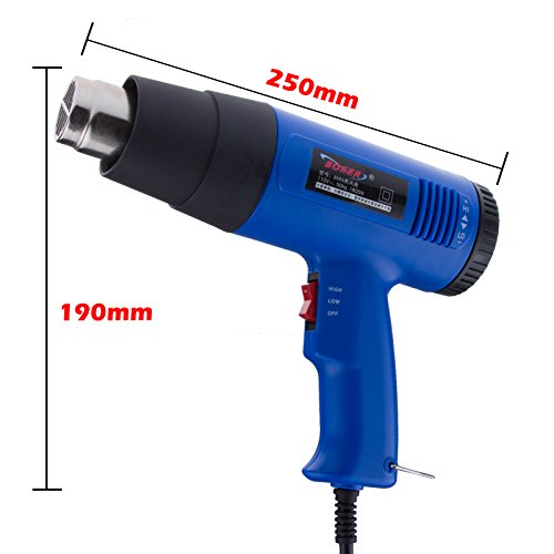 Lemonbest High Power 868A Style 1800W Electric Industrial Heat Gun Kit 2 Modes Of Electronic Temperature Control