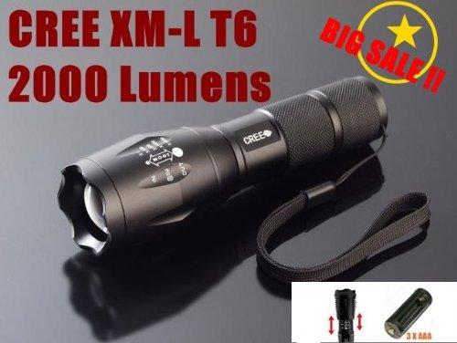 hkbayi UltraFire E17 2000 Lumen Flashlight Led Cree T6 XM ...