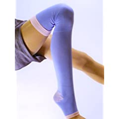 Lace Poet Purple Yoga Sleep Thigh-High Compression Toeless Socks by Lace Poet