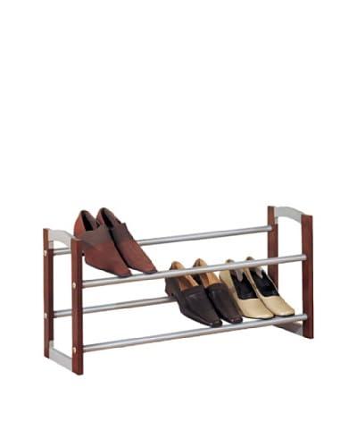 Organize It All 2-Tier Expandable Shoe Rack
