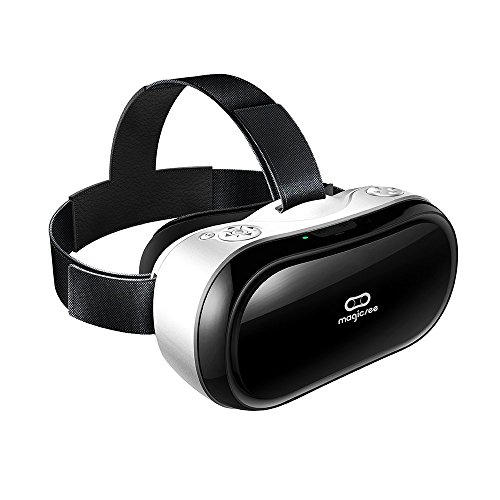 Magicsee M1 VR all in One Virtual Reality Headset 3D VR Glasses PC,Game Android 5.1 HDMI 19201080 HD 2G/16G 360 Viewing Immersive support Wifi 2.4G Bluetooth, with TF Card Controller