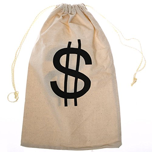 "Large ""$"" Money Drawstring Bag"