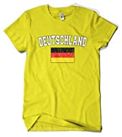 (Cybertela) Deutschland Flag Men's T-shirt Country Pride Tee