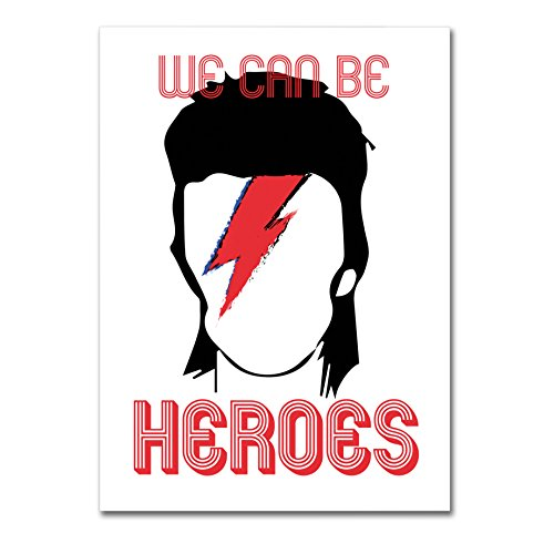 "Poster - David Bowie ""We Can Be Heroes"" - su carta lucida fotografica - Formato, 30cmx40cm"