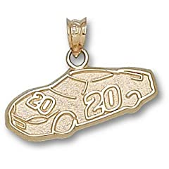 Joey Logano #20 Car Pendant - 14KT Gold Jewelry by Logo Art