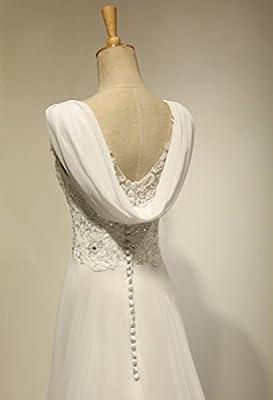 VIVIANSBRIDAL® A Line Lace Sapghetti Straps Chiffon Wedding Dresses