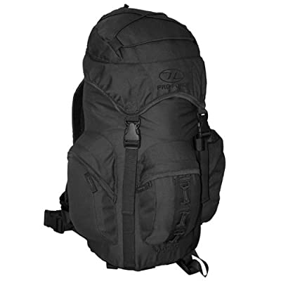 Army Rucksack Tactical Backpack Bergen Forces 25L Black by Pro-Force