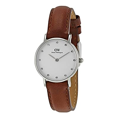 Daniel Wellington Women's 0920DW St Mawes Stainless Steel Watch with Brown Leather Band