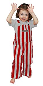 Ohio State Buckeyes Toddler Game Bibs Striped Overalls by Game Bibs