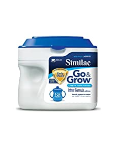 Similac Go & Grow Milk Based Formula, Powder, 22-Ounces (Pack of 6) (Packaging May Vary)