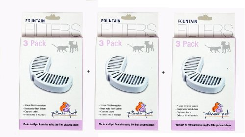 Pioneer Pet Big Max & Raindrop Fountain Filters Combo Pack (9 filters)