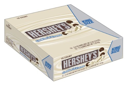 Cookies n' Creme Candy Bar, 2.6-Ounce Boxes (Pack of 18)