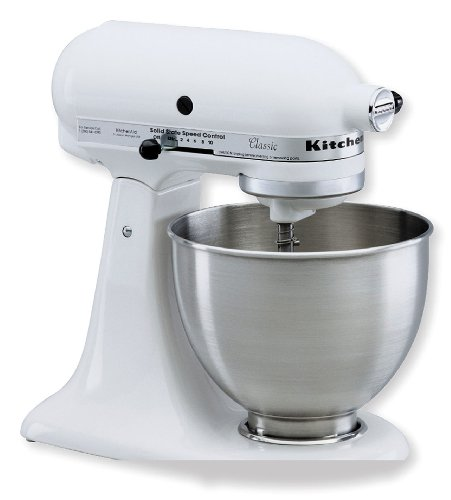 Cheap KitchenAid KSM75WH Classic Plus Tilt-Head 4-1/2-Quart Stand Mixer, White