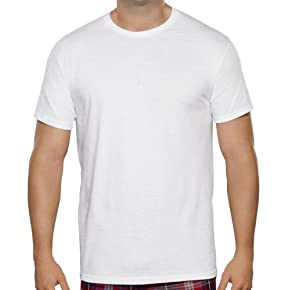 Fruit of the Loom Men's 3pk Big Man White Crew