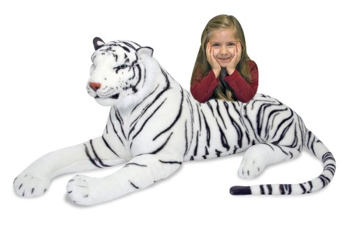 Melissa & Doug White Tiger Plush