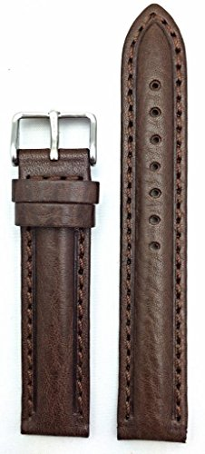 18Mm Oily Dark Brown Leather, Nice Stitches And Center Padded To Show Style