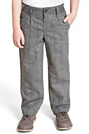 Autograph Herringbone Adjustable Waist Straight Leg Trousers [T88-1677U-S]