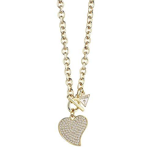 Guess Damen-Kette mit Anhänger LOVE Halskette Kristall weiß 41 cm-UBN71543 thumbnail