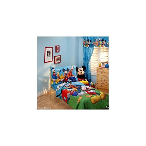 Disney Mickey Mouse Playground Pals 4-piece Toddler Bedding Set - 1