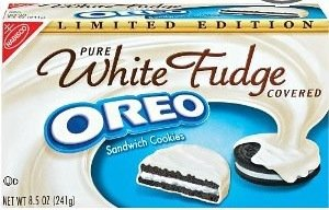 White Fudge Covered Oreo Cookies Limited Edition 8.5 Oz